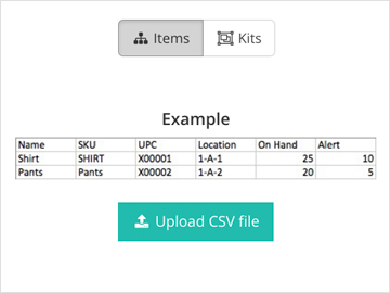 Catalog import with CSV